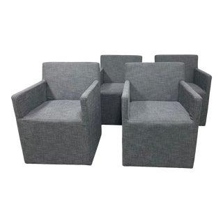 Restoration Hardware Ellison Upholstered Arms Chairs- Set of 4 For Sale
