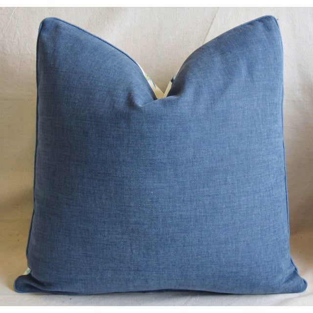 """Schumacher Schumacher Scottish Thistle Floral Feather/Down Pillow 21"""" Square For Sale - Image 4 of 6"""