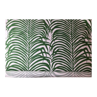 Zebra Palm for Schumacher Fabric- 4 Yards For Sale