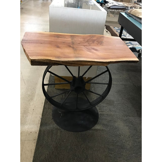 Custom Wood & Iron Side Table - Image 3 of 5