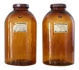 Image of Amber Bottles and Jars and Jugs