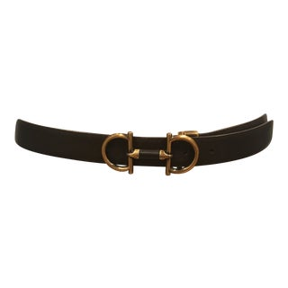 Vintage Ferragamo Belt With Removable Buckle For Sale
