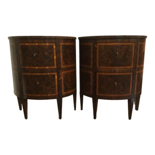 Modern History 2 Drawer Demi-Lune Chests - a Pair For Sale