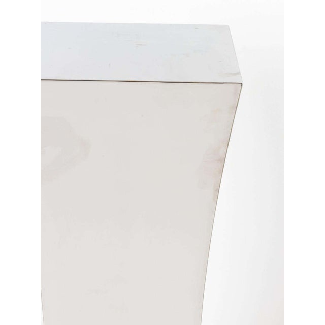 Polished Nickel Concave Pedestal For Sale In New York - Image 6 of 11
