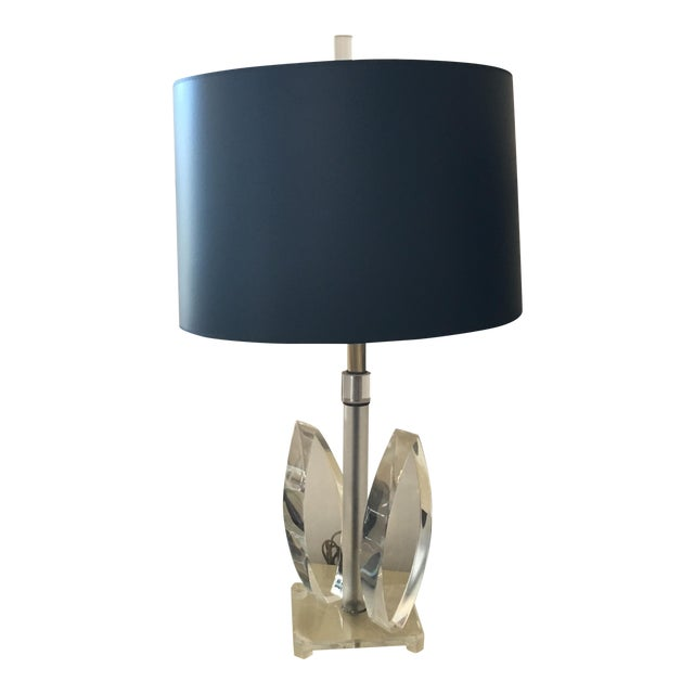 Mid Century Modern Sculptural Acrylic Table Lamp Attributed to Van Teal - Image 1 of 8