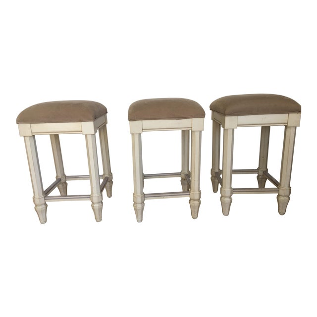 Tan Backless Counter Stools - Set of 3 - Image 1 of 5