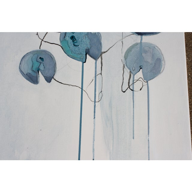 """""""Connected Blue"""" Oil Painting - Image 6 of 8"""