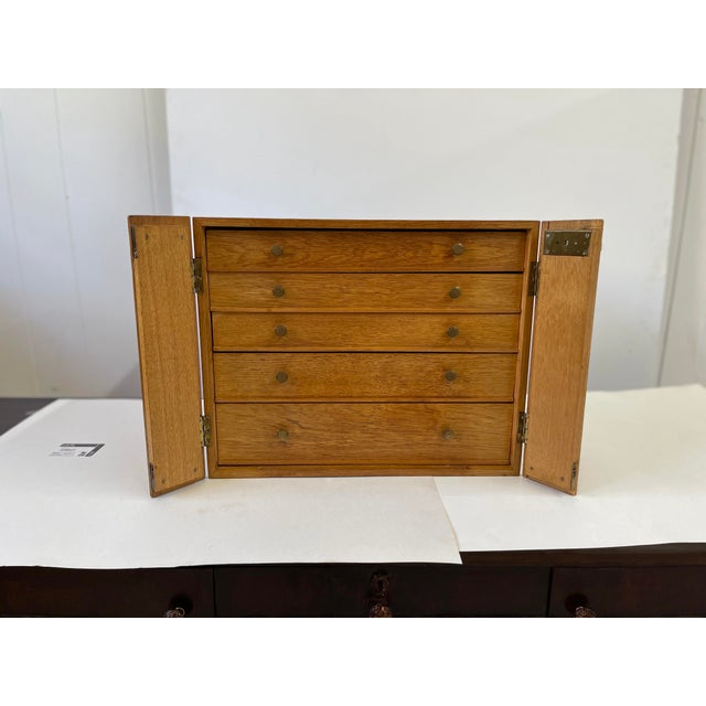 Metal English Campaign Silver Flatware Chest For Sale - Image 7 of 13