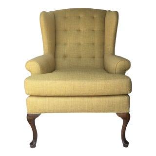 Classical Dutch Pad Feet Wingback Chair For Sale