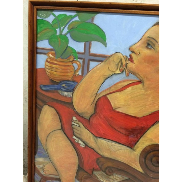 Pastel and Gouache Drawing by Frank Guttierrez - Image 4 of 4