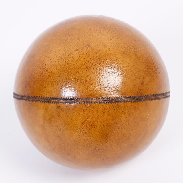 Six Decorative Leather Balls For Sale In West Palm - Image 6 of 8