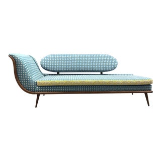 Vintage Mid Century Chaise Lounge For Sale
