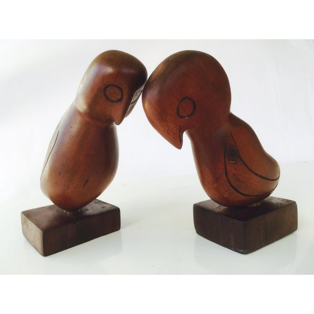 Mid-Century Teak Love Birds - A Pair - Image 3 of 7