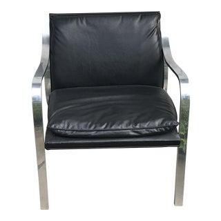 1970s Vintage Aluminum Club Lounge Chair For Sale