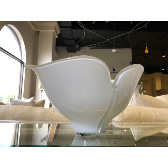 Italian 1980s Vintage Barovier E Toso Vetri Murano Italian Art Glass Centerpiece Bowl For Sale - Image 3 of 9