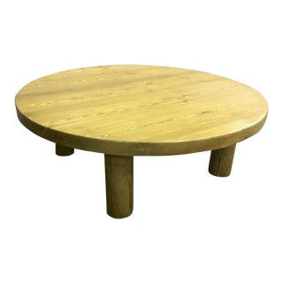 Charlotte Perriand Sturdy Pine Meribel Coffee Table For Sale