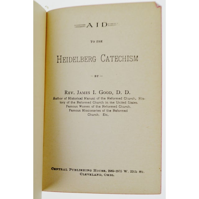 1904 Aid to Heidleberg Catechism Hardcover Book - Image 2 of 6