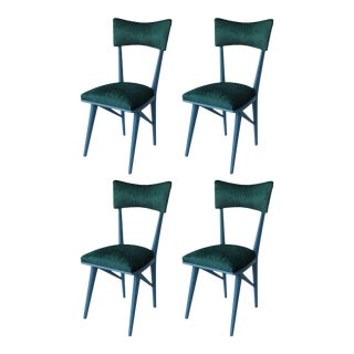 1950s Teal Dining Chairs - Set of 4 For Sale