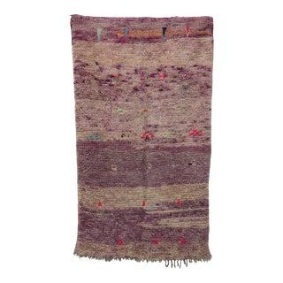 "Boujad Vintage Moroccan Rug, 3'9"" X 6'8"" For Sale"