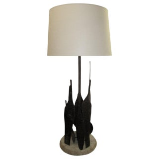 Sculptural Table Lamp by Fantoni For Sale