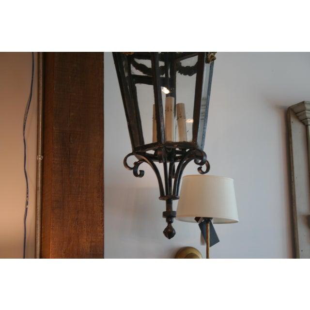 Metal 19th Century Louis XV Style Iron Lantern For Sale - Image 7 of 9