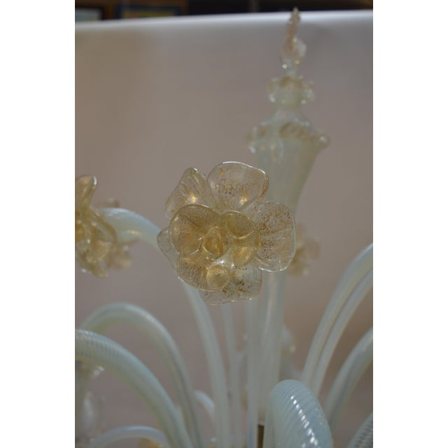 Murano Murano Opaline Glass Floor Lamp For Sale - Image 4 of 10