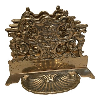 Vintage Brass Letter Holder With Gryphons For Sale