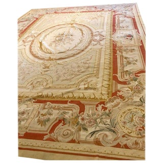 Palatial Aubusson Style Rug For Sale