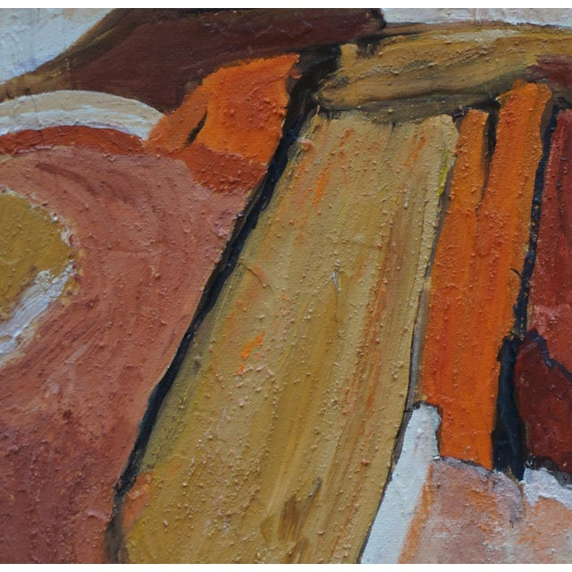 "Laurie MacMillan Laurie MacMillan ""Scenic Route"" Abstract Landscape For Sale - Image 4 of 6"