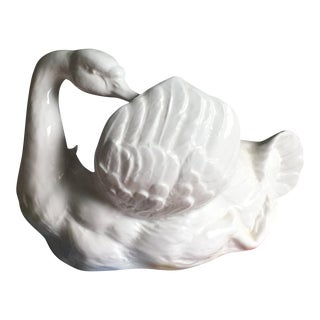Vintage Staffordshire Swan Planter For Sale