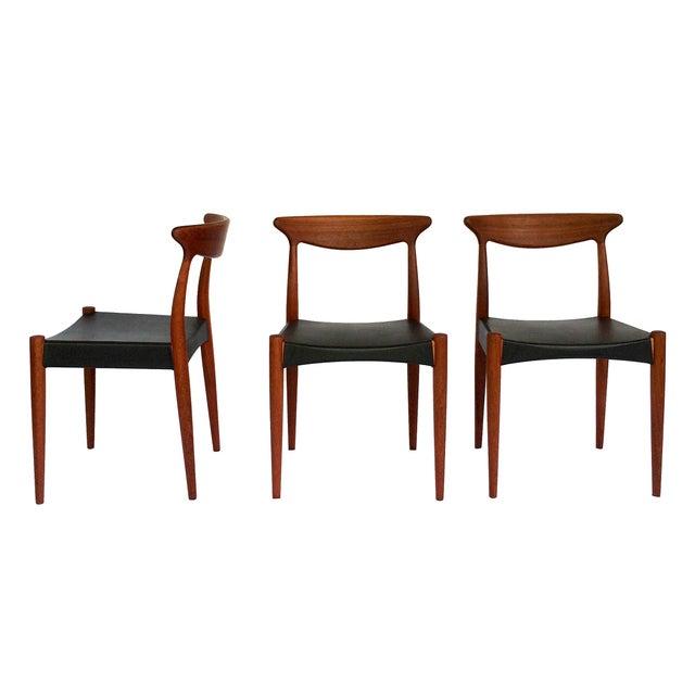 1960's Danish Mid-Century Modern Arne Hovmand-Olsen Model Mk 310 Teak Dining Chairs - Set of 6 For Sale In Orlando - Image 6 of 13