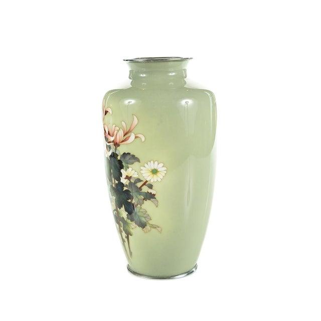 Ceramic Vintage Japanese Cloisonné Ando Vase For Sale - Image 7 of 9