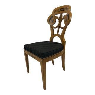 1980s Vintage John Widdicomb Neoclassical Style Accent Side Chair For Sale