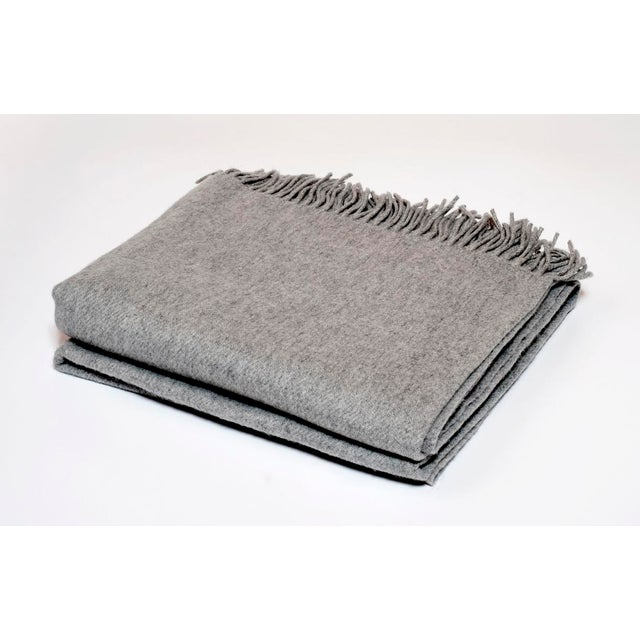 Contemporary Contemporary Dove Grey Cashmere Collection Throw For Sale - Image 3 of 3