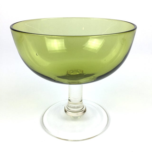 Vintage Green Coupe Cocktail Glasses – Set of 6 For Sale - Image 5 of 10