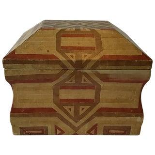 1970s Karl Springer Leather Box For Sale