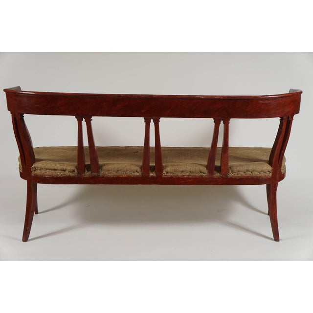 Traditional Italian 'Egyptian' Style Parcel Gilt and Painted Settee, Circa 1805 For Sale - Image 3 of 11