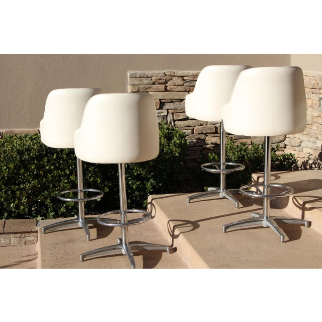 Baumritter Mid-Century Viko Baumritter Bar Stools - Set of 4 For Sale - Image 4 of 11