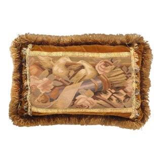 "1980s Traditional Pasargad Tapestry Pillow - 16"" X 24"" For Sale"