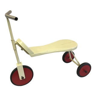 Vintage Metal and Wooden Tricycle