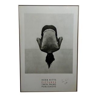 Herb Ritts - Original 1988 Poster -Signed & Dated For Sale