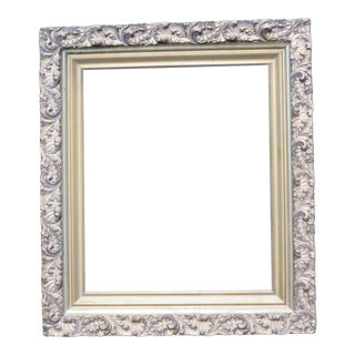 Antique Large Wood Gesso Gold Gilt Picture Frame For Sale