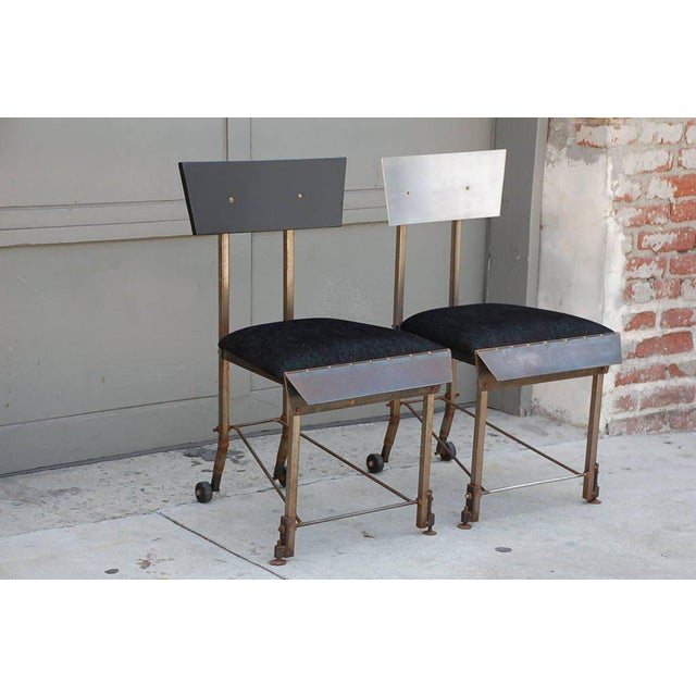 Late 20th Century Set of 8 One-Of-A-Kind Modernist Dining Chairs For Sale - Image 5 of 12