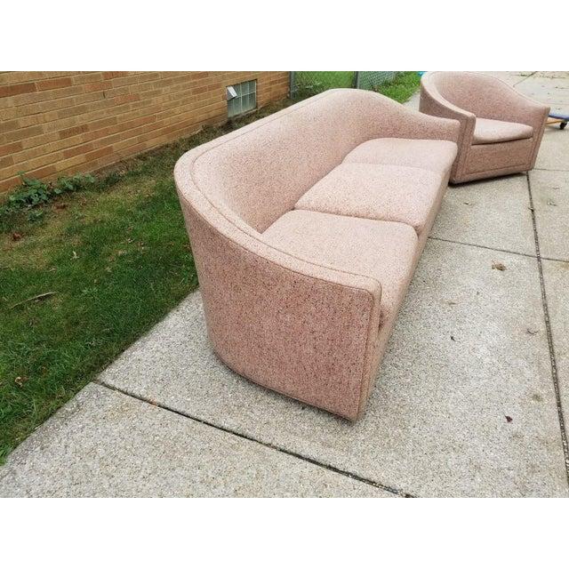 Larsen Furniture Jack Lenor Larsen Low Sofa and Swivel Lounge Chair - A Pair - Image 9 of 11
