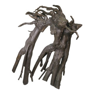 1980s Lefevre Bronze Tree Root Sculpture For Sale
