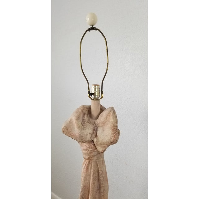 Plaster John Dickinson Style Sculptural Draped Plaster Floor Lamps - a Pair For Sale - Image 7 of 13