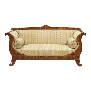 Mid 19th Century Vintage Dutch Walut Settee For Sale