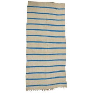 Nautical Striped Kilim Area Rug, Vintage Berber Moroccan Kilim Rug With Stripes, 5'4 X 11'8 For Sale