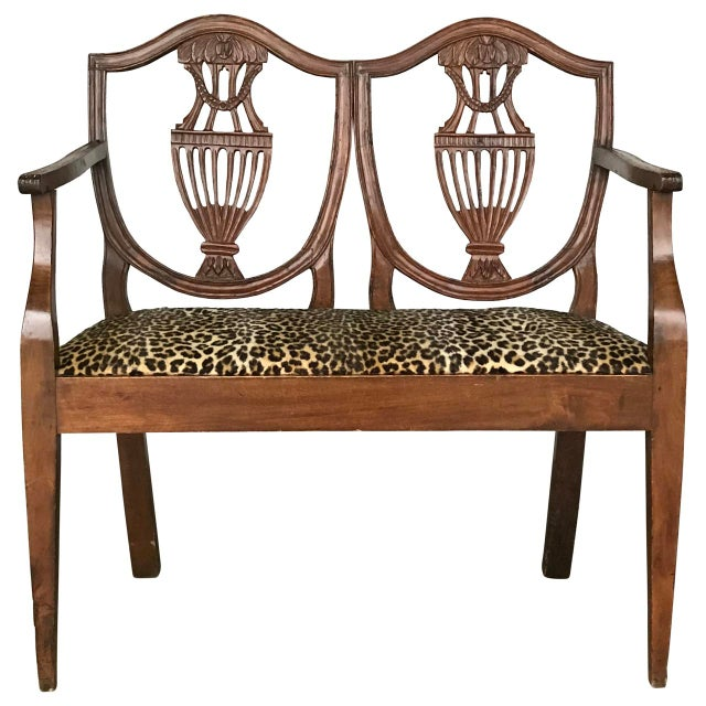 Walnut 18th C. Italian Neoclassical Walnut Canape Bench For Sale - Image 7 of 7