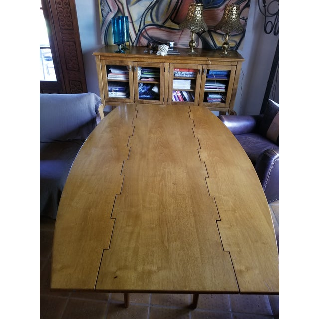 Barney Flagg for Drexel Parallel Drop Leaf Dining Table - Image 7 of 8